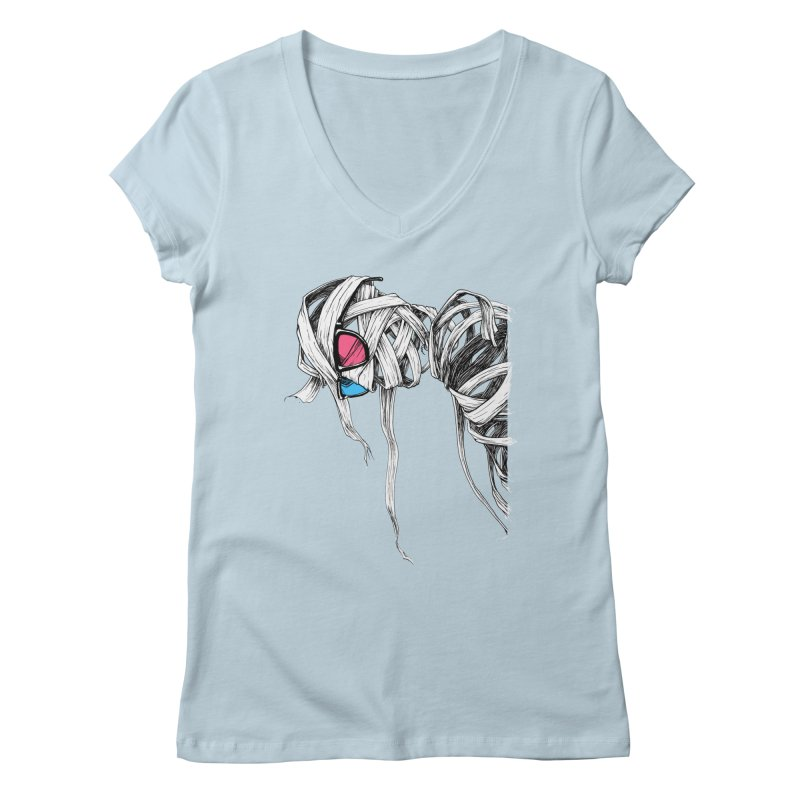 Invisible man Women's Regular V-Neck by Barry Blankenship Shirts