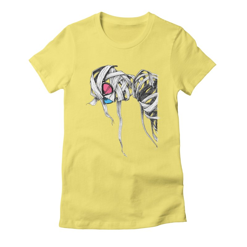 Invisible man Women's Fitted T-Shirt by Barry Blankenship Shirts