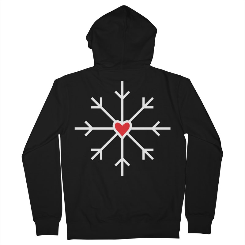 Snowflake Women's French Terry Zip-Up Hoody by Barry Blankenship Shirts