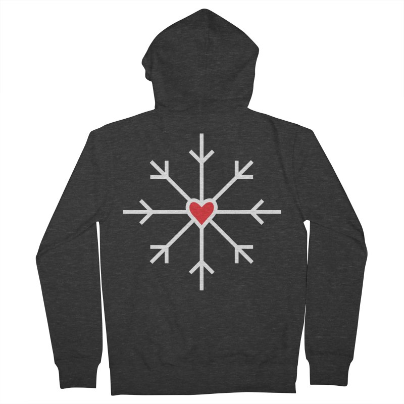 Snowflake Men's Zip-Up Hoody by Barry Blankenship Shirts