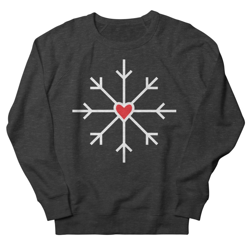 Snowflake Women's French Terry Sweatshirt by Barry Blankenship Shirts