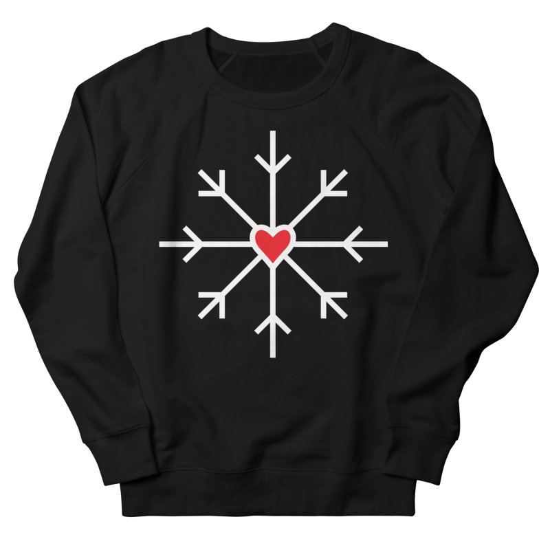Snowflake Men's French Terry Sweatshirt by Barry Blankenship Shirts