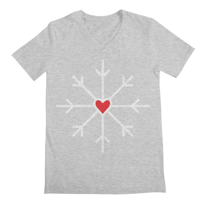 Snowflake Men's V-Neck by Barry Blankenship Shirts