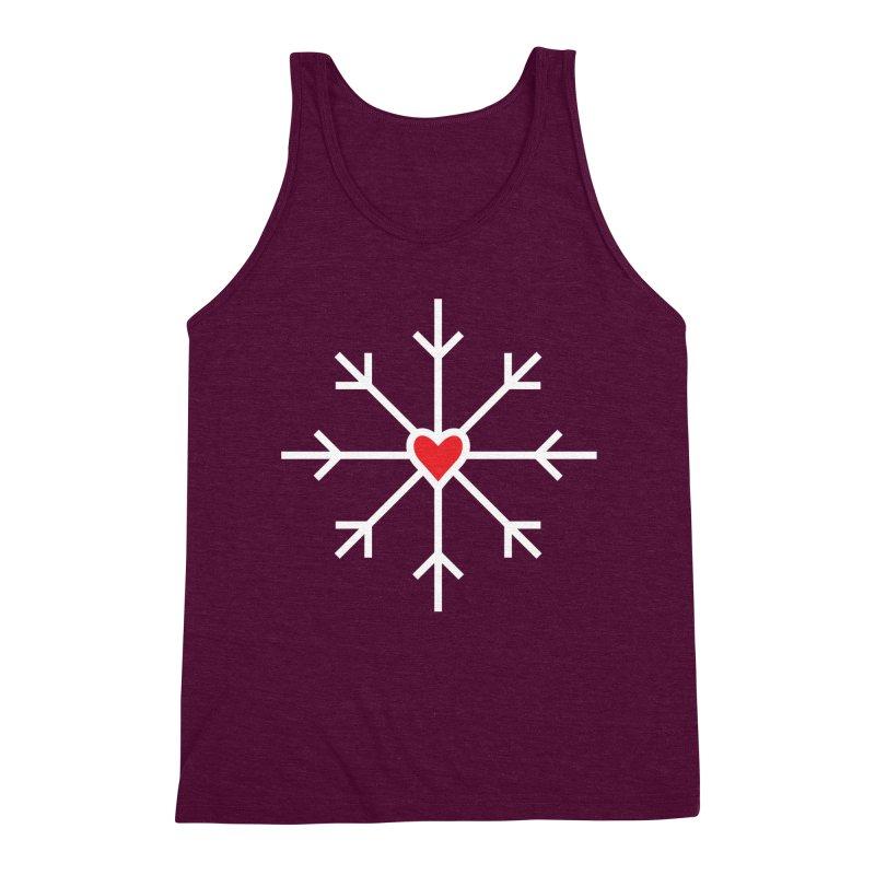 Snowflake Men's Triblend Tank by Barry Blankenship Shirts