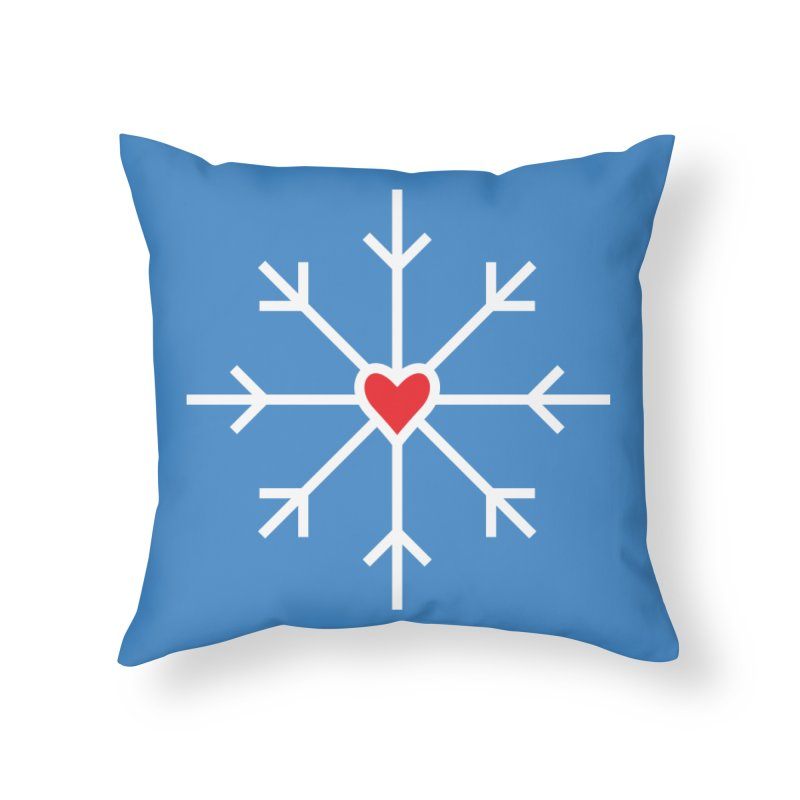 Snowflake Home Throw Pillow by Barry Blankenship Shirts