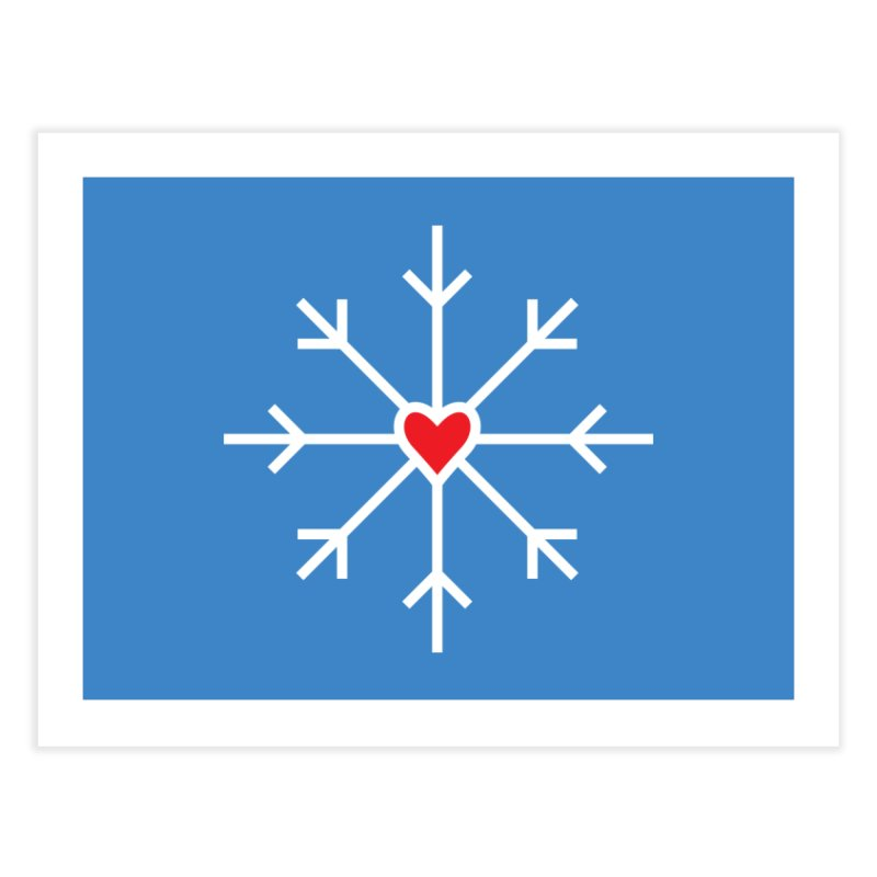 Snowflake Home Fine Art Print by Barry Blankenship Shirts