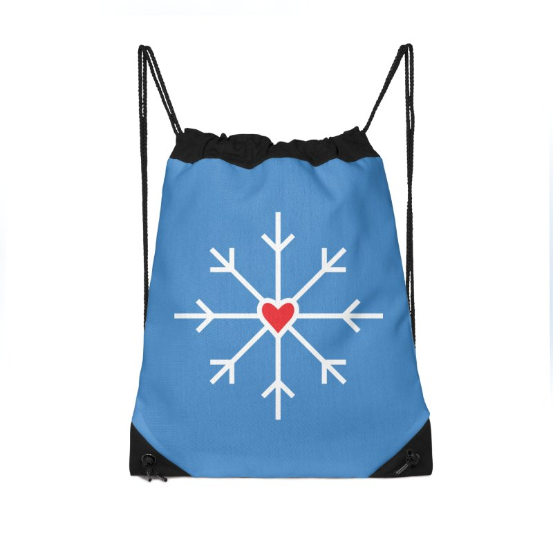 Snowflake Accessories Drawstring Bag Bag by Barry Blankenship Shirts