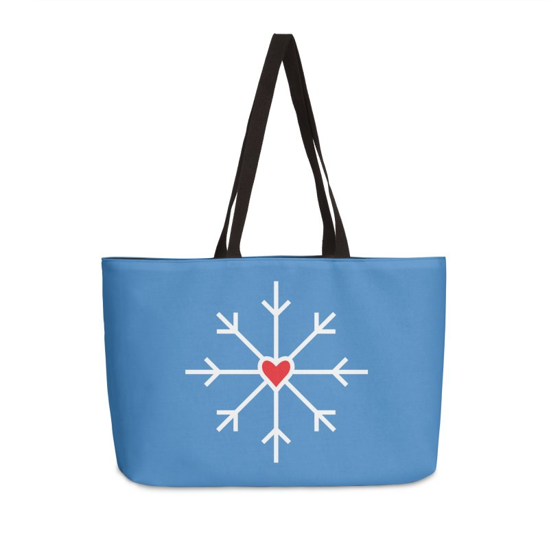 Snowflake Accessories Weekender Bag Bag by Barry Blankenship Shirts