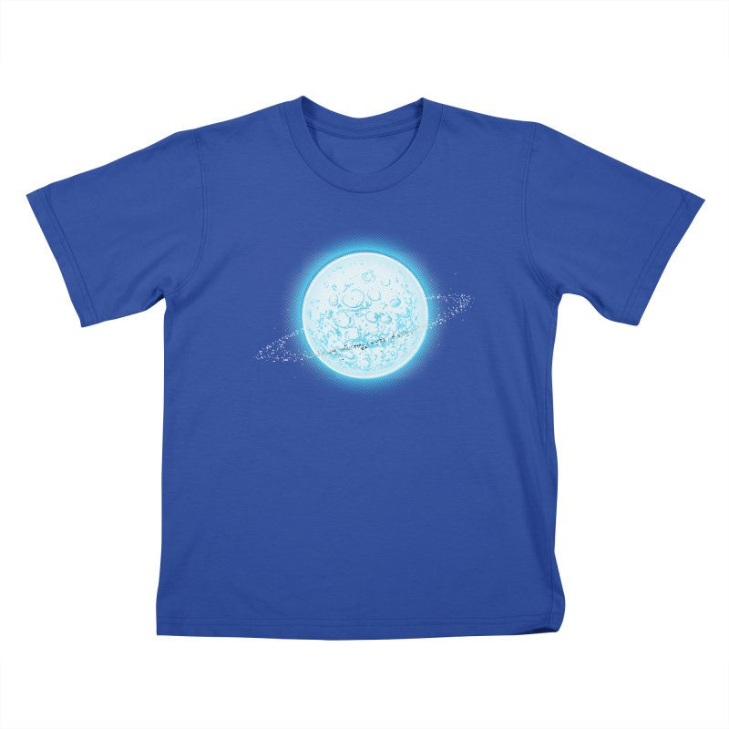 Lunar Orbit Kids T-Shirt by Barry Blankenship Shirts