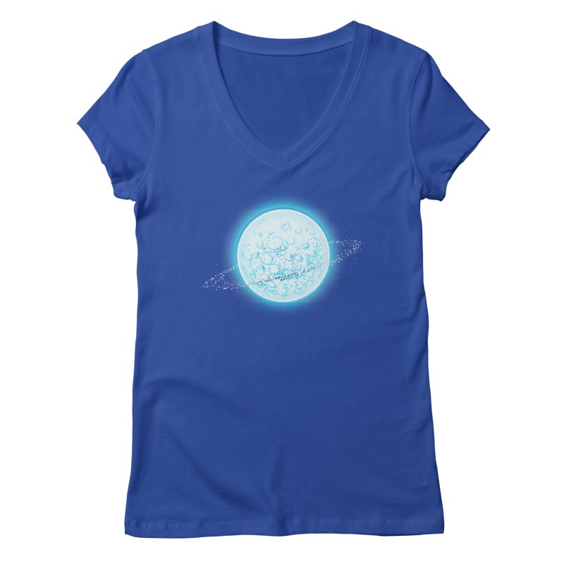 Lunar Orbit Women's Regular V-Neck by Barry Blankenship Shirts