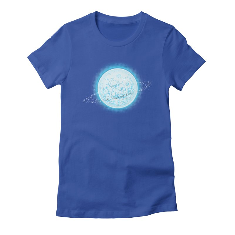 Lunar Orbit Women's Fitted T-Shirt by Barry Blankenship Shirts