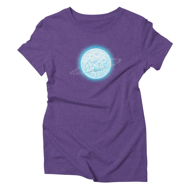 Lunar Orbit Women's Triblend T-Shirt by Barry Blankenship Shirts