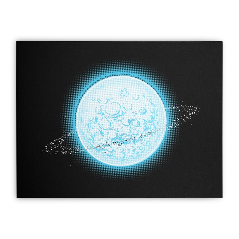 Lunar Orbit Home Stretched Canvas by Barry Blankenship Shirts