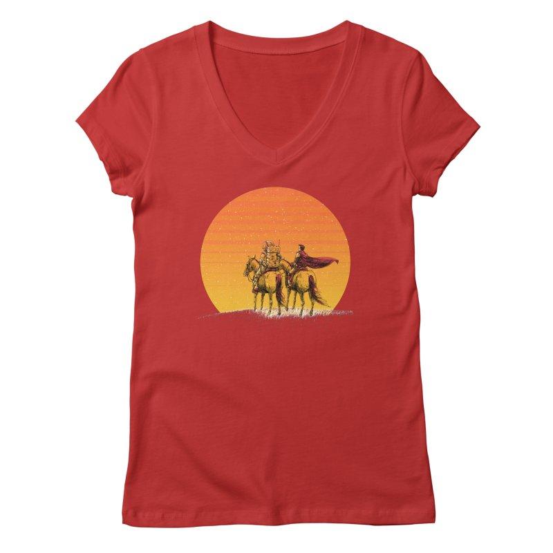 Good Old Days Women's Regular V-Neck by Barry Blankenship Shirts