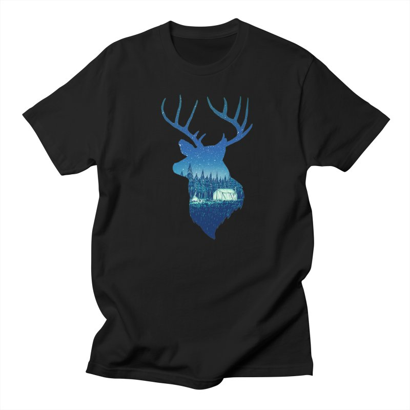 Deer Tent Men's T-Shirt by Barry Blankenship Shirts