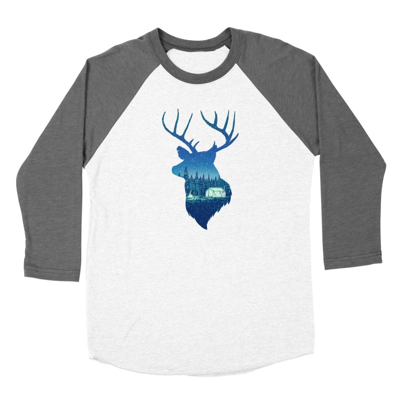 Deer Tent Men's Baseball Triblend Longsleeve T-Shirt by Barry Blankenship Shirts