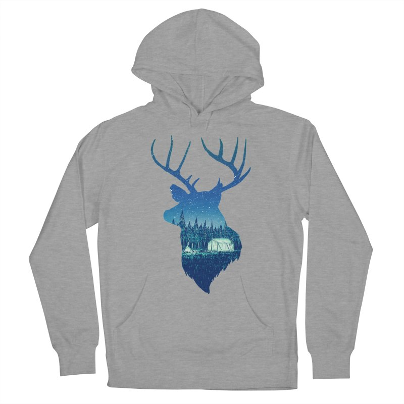 Deer Tent Men's Pullover Hoody by Barry Blankenship Shirts