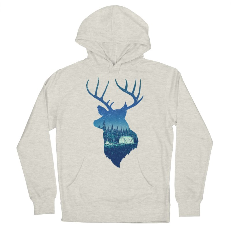Deer Tent Men's French Terry Pullover Hoody by Barry Blankenship Shirts