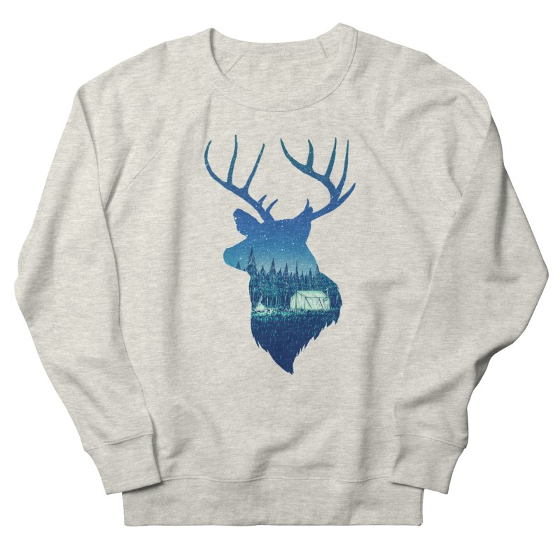 Deer Tent Men's French Terry Sweatshirt by Barry Blankenship Shirts