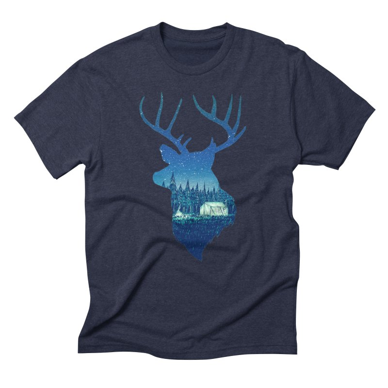 Deer Tent Men's Triblend T-Shirt by Barry Blankenship Shirts