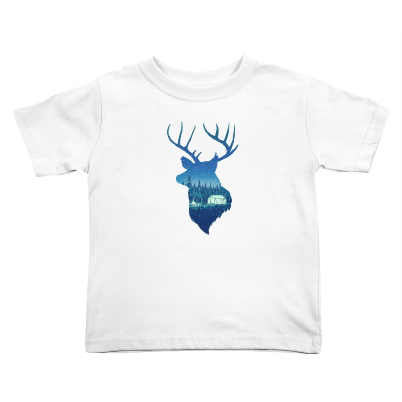 Deer Tent Kids Toddler T-Shirt by Barry Blankenship Shirts