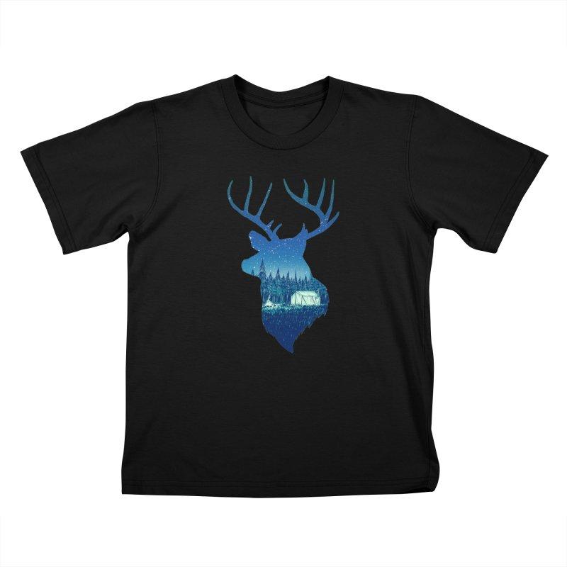 Deer Tent Kids T-Shirt by Barry Blankenship Shirts