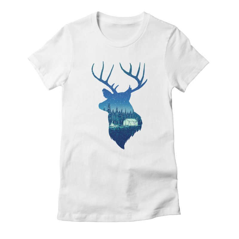 Deer Tent Women's Fitted T-Shirt by Barry Blankenship Shirts