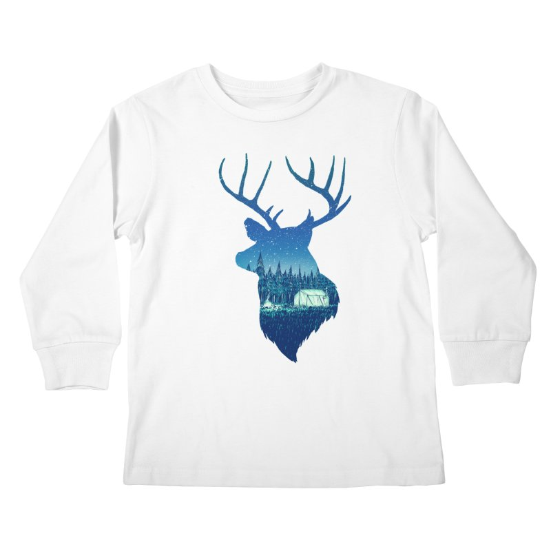 Deer Tent Kids Longsleeve T-Shirt by Barry Blankenship Shirts