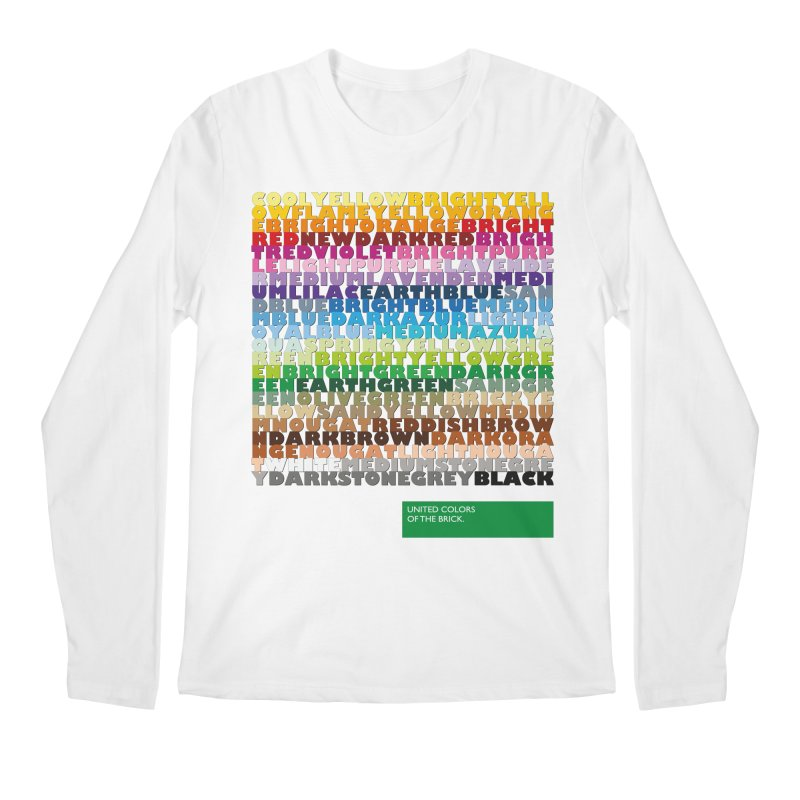United Colors Of The Bricks Men's Regular Longsleeve T-Shirt by Christoph Bartneck's Design Shop