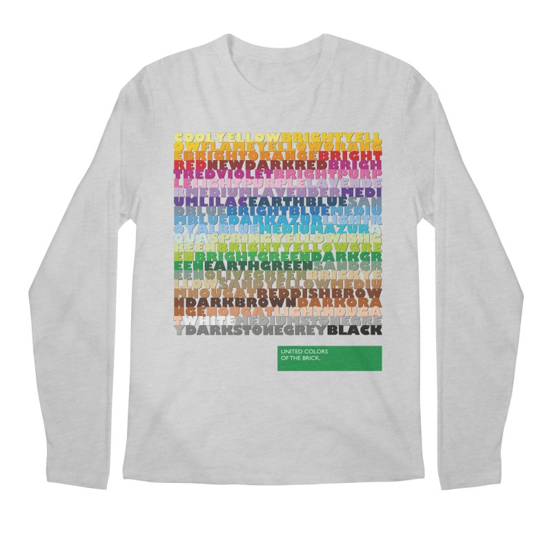 United Colors Of The Bricks Men's Longsleeve T-Shirt by Christoph Bartneck's Design Shop