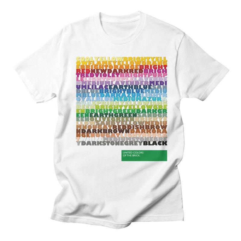 United Colors Of The Bricks Men's Regular T-Shirt by Christoph Bartneck's Design Shop