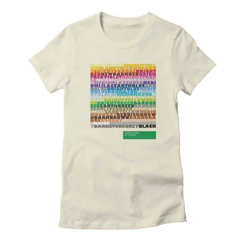 United Colors Of The Bricks Women's T-Shirt by Christoph Bartneck's Design Shop