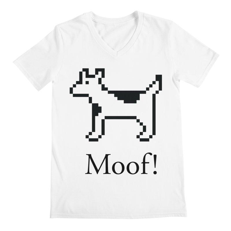 Moof! Men's V-Neck by Christoph Bartneck's Design Shop