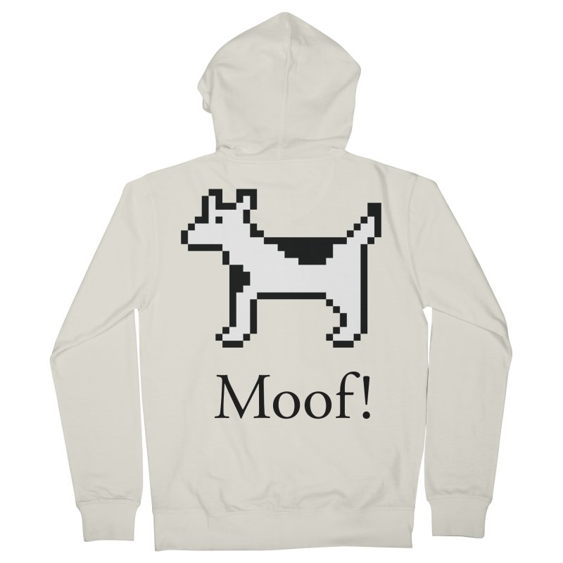 Moof! Men's French Terry Zip-Up Hoody by Christoph Bartneck's Design Shop