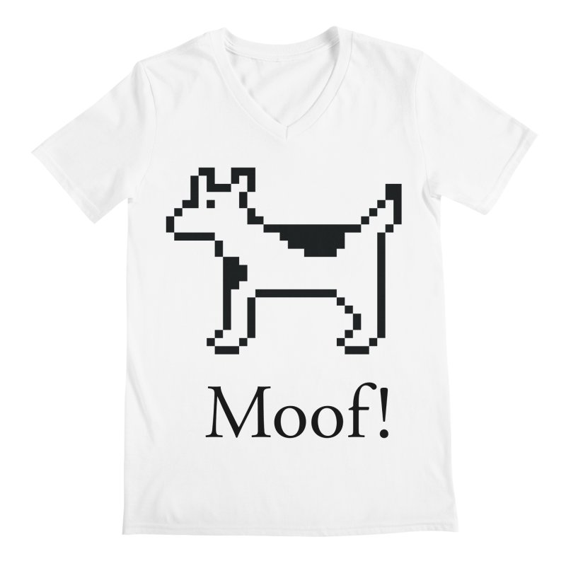 Moof! Men's V-Neck by Christoph Bartneck's Design Shop