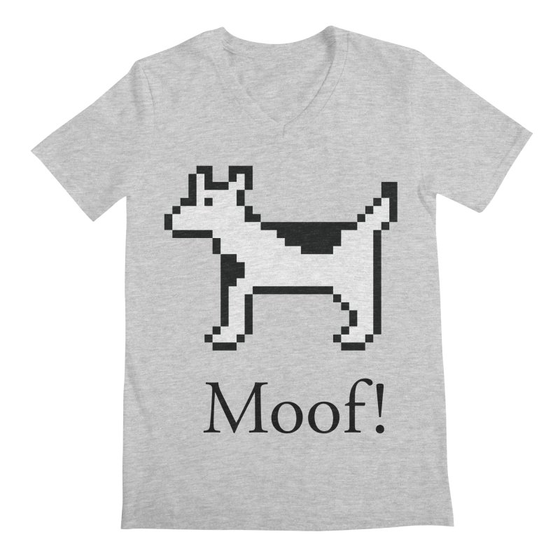 Moof! Men's Regular V-Neck by Christoph Bartneck's Design Shop