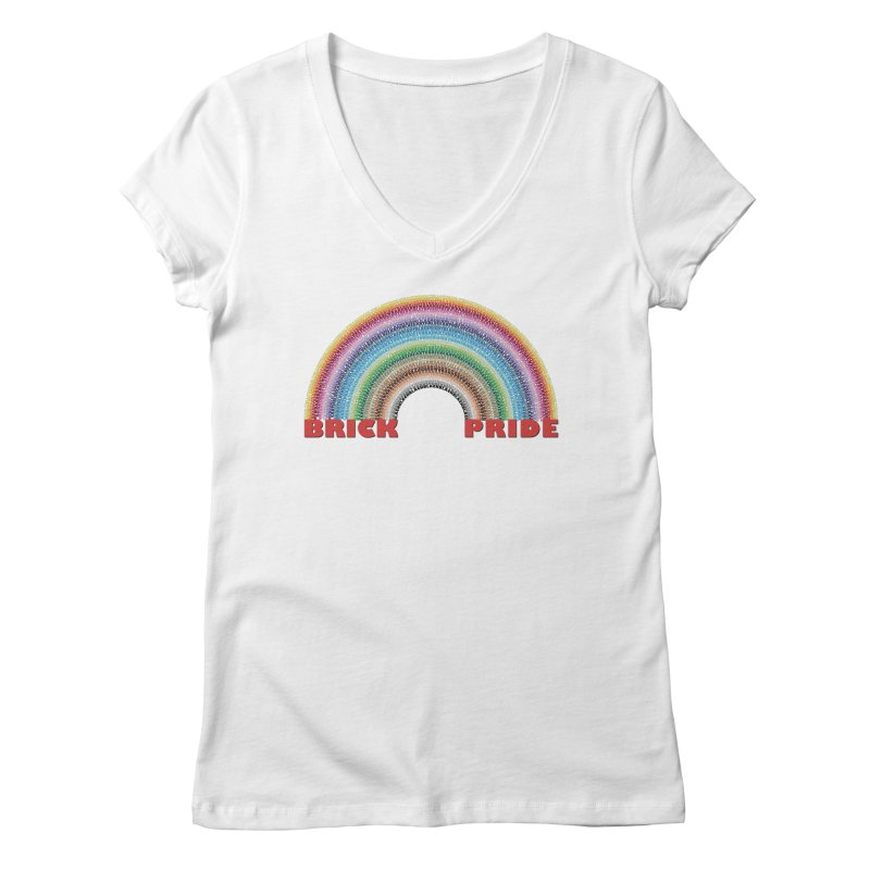 Brick Pride Women's Regular V-Neck by Christoph Bartneck's Design Shop