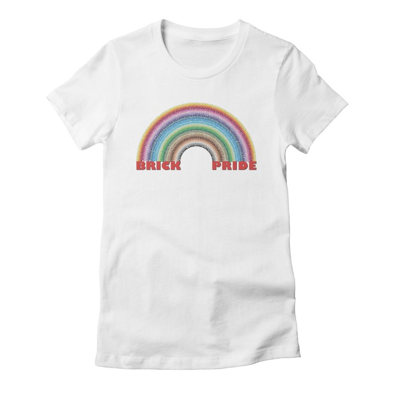 Brick Pride Women's Fitted T-Shirt by Christoph Bartneck's Design Shop