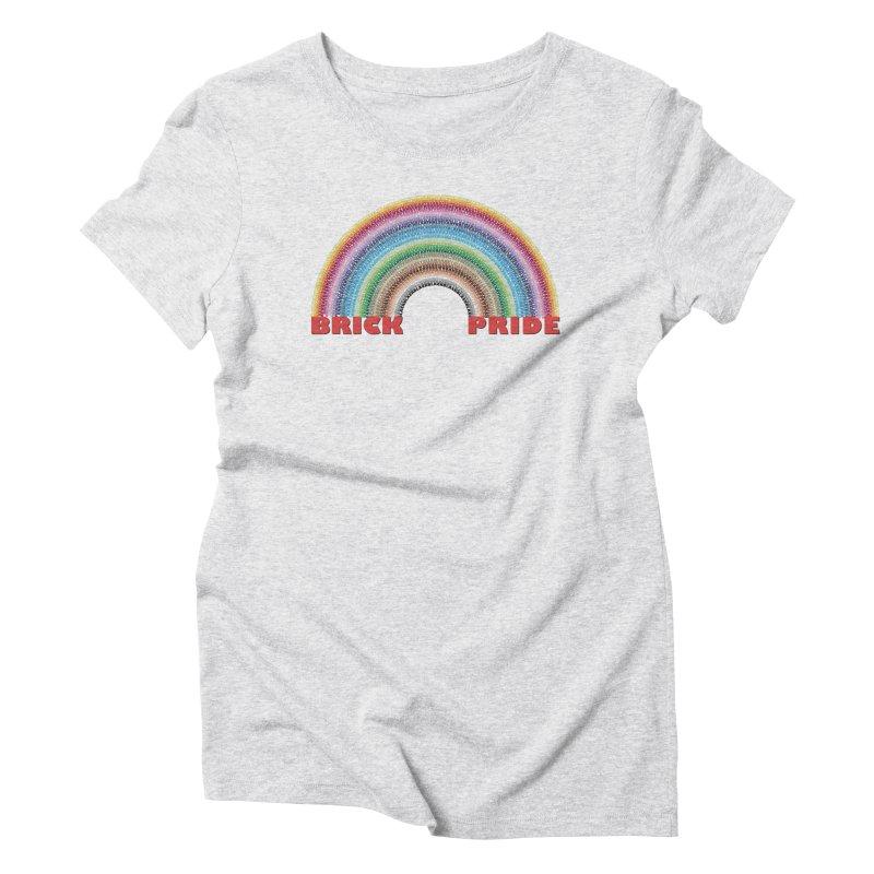 Brick Pride Women's Triblend T-Shirt by Christoph Bartneck's Design Shop