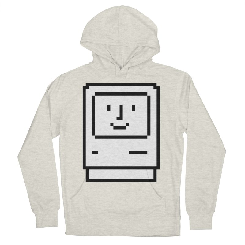 Happy Mac Men's French Terry Pullover Hoody by Christoph Bartneck's Design Shop