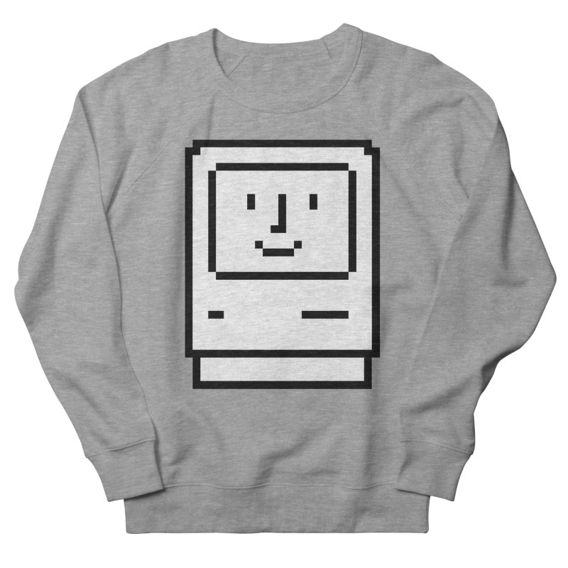 Happy Mac Men's French Terry Sweatshirt by Christoph Bartneck's Design Shop