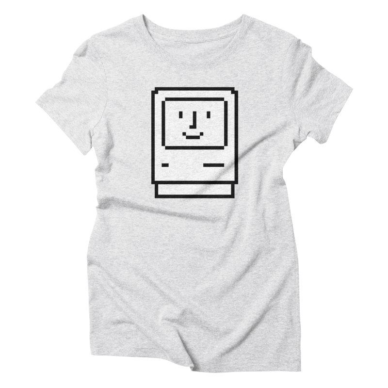 Happy Mac Women's T-Shirt by Christoph Bartneck's Design Shop
