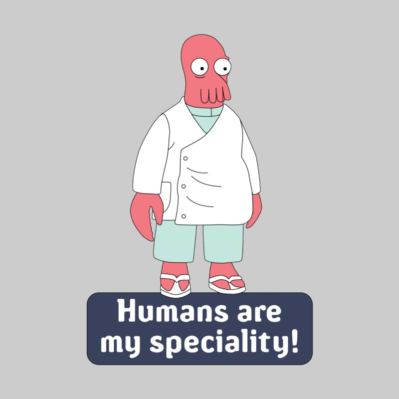 Humans Are My Speciality Accessories Zip Pouch by Christoph Bartneck's Design Shop