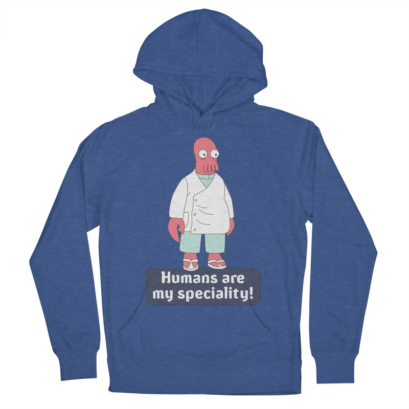 Humans Are My Speciality Men's French Terry Pullover Hoody by Christoph Bartneck's Design Shop