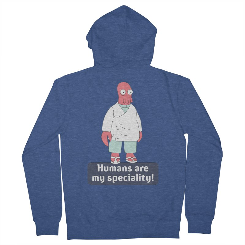 Humans Are My Speciality Women's French Terry Zip-Up Hoody by Christoph Bartneck's Design Shop