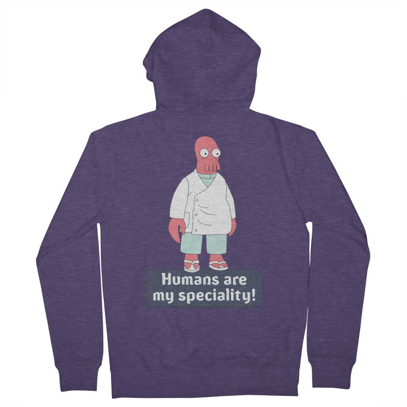 Humans Are My Speciality Men's French Terry Zip-Up Hoody by Christoph Bartneck's Design Shop
