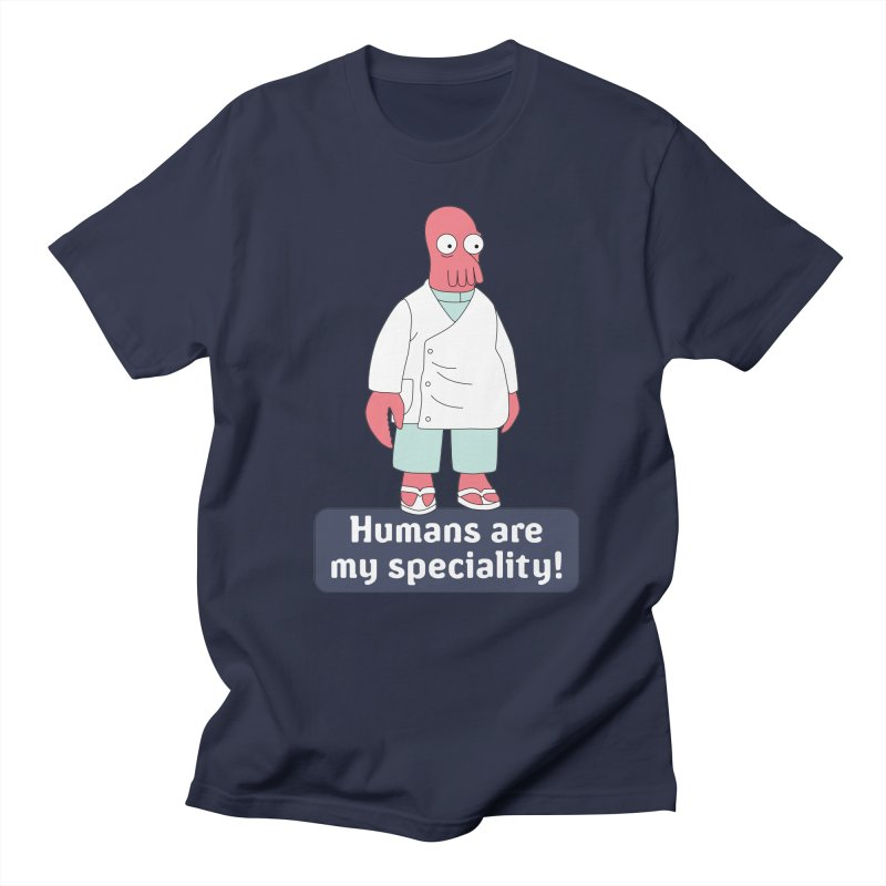 Humans Are My Speciality Women's Regular Unisex T-Shirt by Christoph Bartneck's Design Shop
