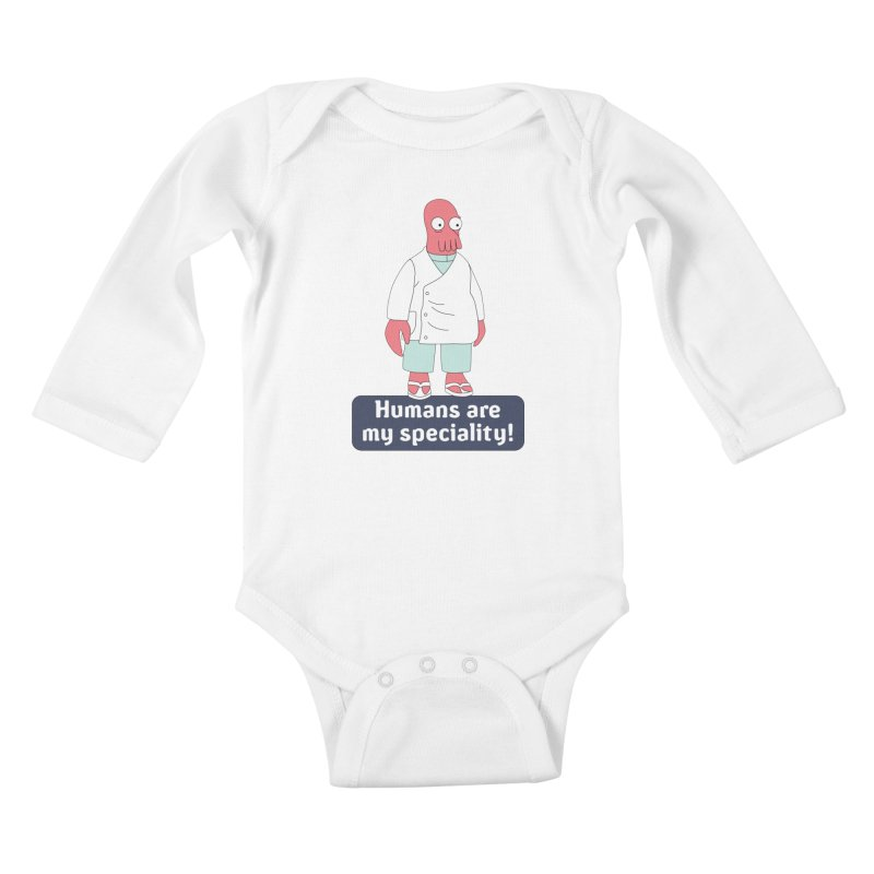 Humans Are My Speciality Kids Baby Longsleeve Bodysuit by Christoph Bartneck's Design Shop