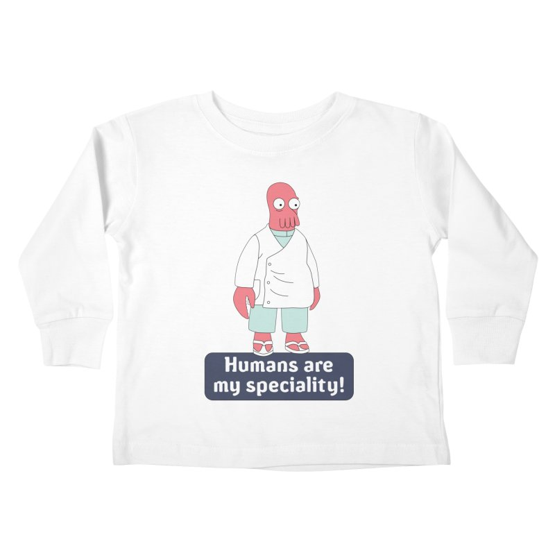 Humans Are My Speciality Kids Toddler Longsleeve T-Shirt by Christoph Bartneck's Design Shop