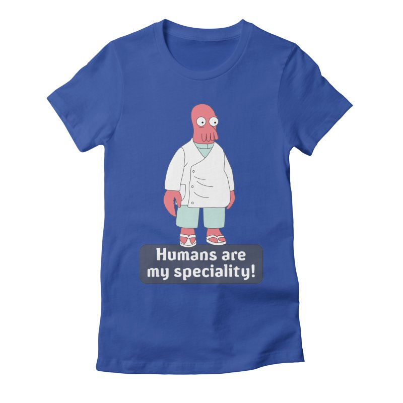 Humans Are My Speciality Women's Fitted T-Shirt by Christoph Bartneck's Design Shop
